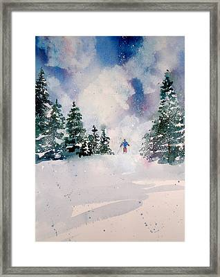 First Run Framed Print by Maurie Harrington