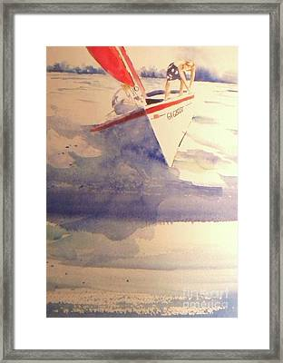 First Sailing Lesson Framed Print by Jill Morris