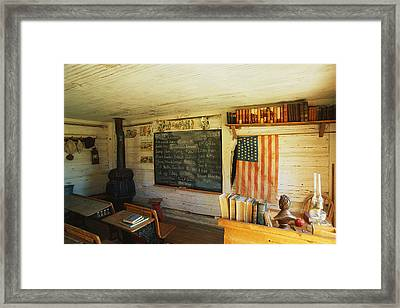 First School In Montana Framed Print by Panoramic Images