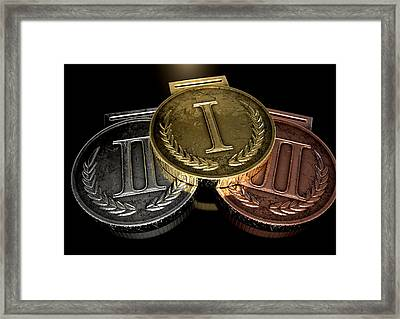 First Second And Third Medals Framed Print by Allan Swart