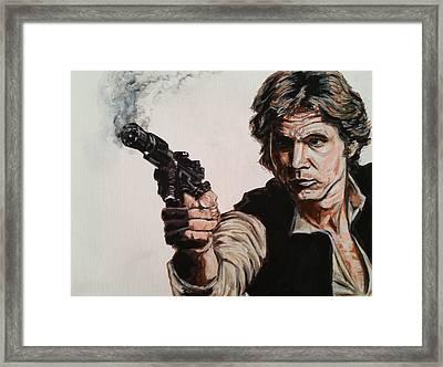 First Shot - Han Solo Framed Print