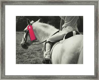 First Show Red Framed Print by JAMART Photography