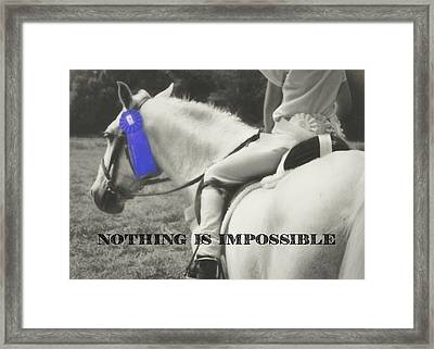First Show Quote Framed Print by JAMART Photography