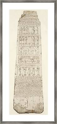 First Side Of Obelisk, Illustration From Monuments Of Nineveh Framed Print by Austen Henry Layard