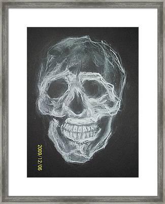 First Skull Work Framed Print by Nancy  Caccioppo