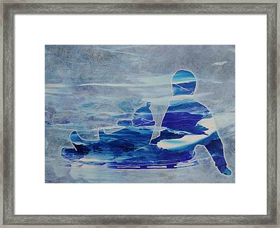 First Sled Ride Framed Print
