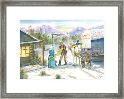 First Snow - Last Call Framed Print by Dan Bozich