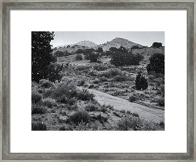 First Snow And The Day Was Gray Framed Print by Mary Lee Dereske