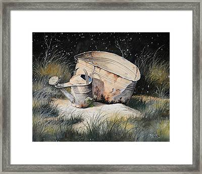 First Snow Framed Print by Bob Hallmark