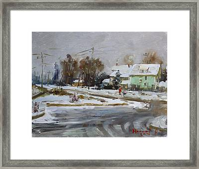 First Snow For This Winter Framed Print