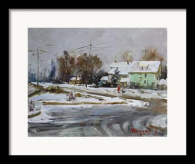 First Snow Framed Prints