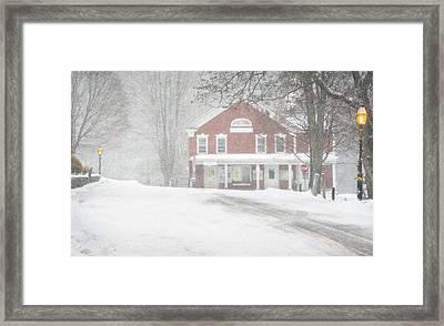 First Snow In Grafton Framed Print by Bruce Neumann