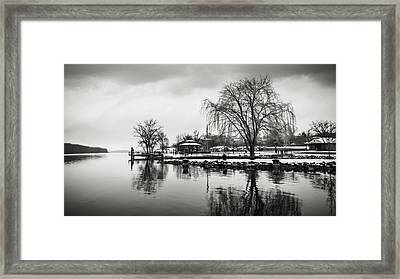 First Snow In Hudson Framed Print by Eduard Moldoveanu