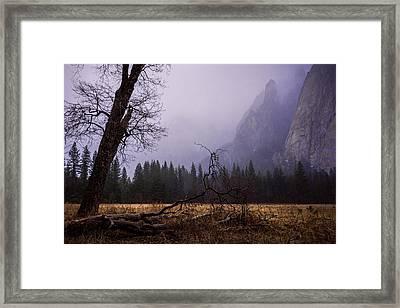 First Snow In Yosemite Valley Framed Print
