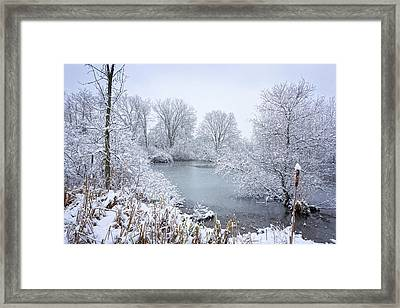 First Snow Framed Print by Kathi Mirto