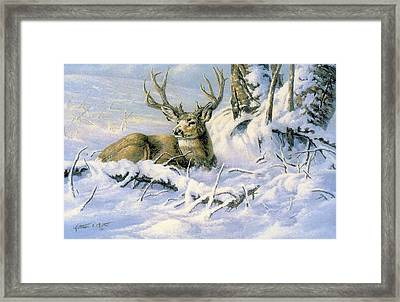 First Snow Framed Print by Kathleen  V  Butts