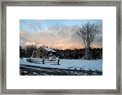 First Snow Framed Print by Linda Joyce Ott