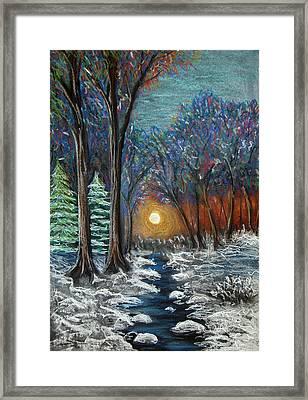 First Snow Framed Print by Nancy Mueller