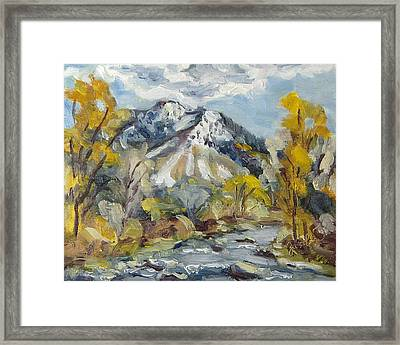 First Snow Steamboat Springs Colorado Framed Print