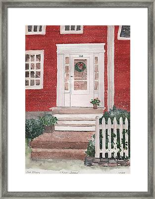 First Snow Framed Print by Sue Olson
