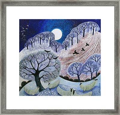 First Snow Surrey Hills Framed Print by Lisa Graa Jensen