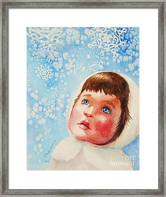 First Snowfall Framed Print by Marilyn Jacobson