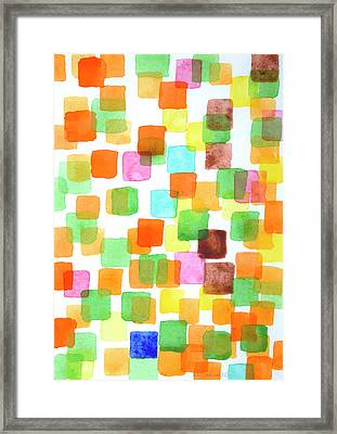 First Squares Pattern Framed Print
