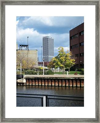 First Star Tall View From River Framed Print by Anita Burgermeister