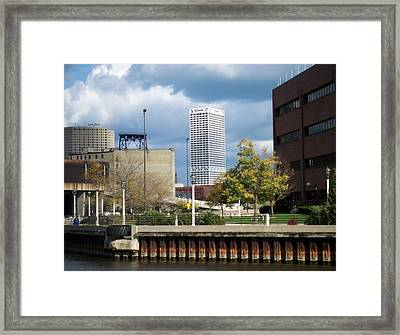 First Star View From River Framed Print by Anita Burgermeister