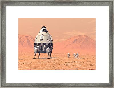 Framed Print featuring the digital art First Steps by David Robinson