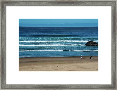 First Steps On The Sand Framed Print