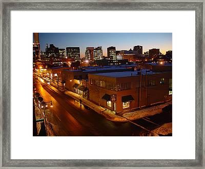 First Street Framed Print by Eric Workman