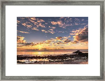 First Sunset Of 2013 Framed Print