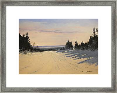 first tracks Stratton Framed Print by Ken Ahlering