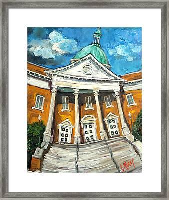 First United Methodist Church Athens Al Framed Print by Carole Foret