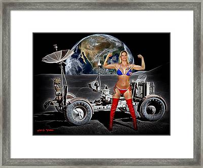 First Woman On The Moon Framed Print