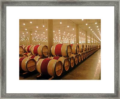 First Year Cellar At Chateau Latour Framed Print by Rodger Lindquist