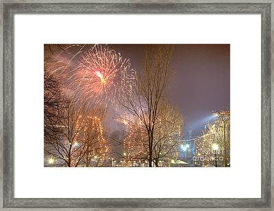 Firstnight Fireworks Framed Print by Susan Cole Kelly
