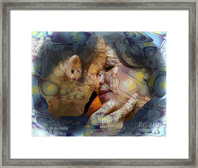 First Kiss Framed Print by Moustafa Al Hatter