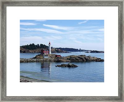 Fisgard Lighthouse Shoreline Framed Print