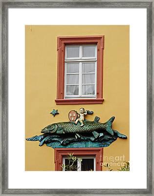 Fish And Baby Framed Print by Sarah Loft