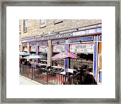 Fish And Chips Framed Print by Greg Joens