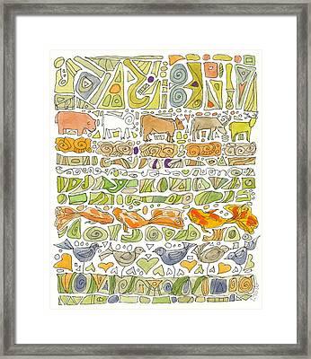 Fish And Fowl Framed Print by Linda Kay Thomas