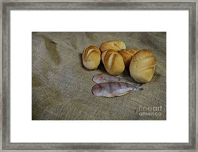 Fish And Loaves Framed Print