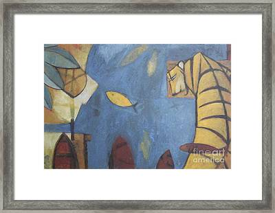 Fish And Tiger Framed Print by Glenn Quist