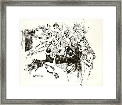 Fish Are Coming To The Rescue Framed Print by Tim Parrish