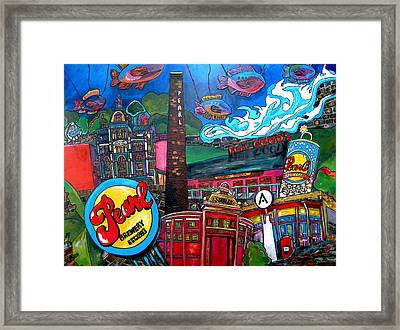 F.i.s.h. At Pearl Brewery Framed Print by Patti Schermerhorn
