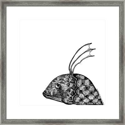 Fish Beast Framed Print by Karl Addison