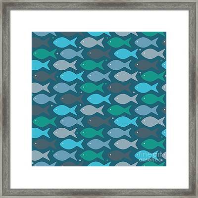 Fish Blue  Framed Print by Mark Ashkenazi