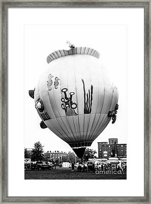 Fish Bowl Black And White Framed Print by Victory  Designs